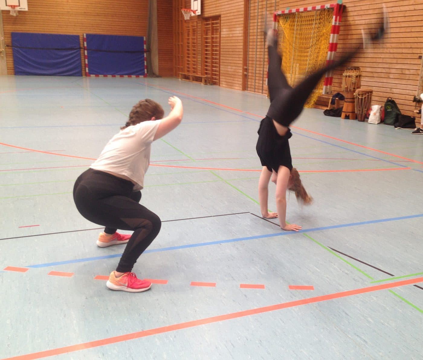 Voller Körpereinsatz beim Capoeira