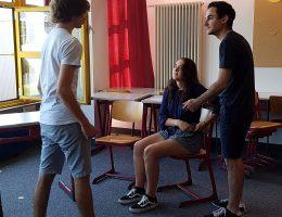 Trio beim Üben